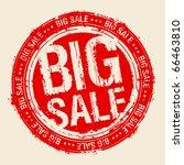 big sale rubber stamp.   Shutterstock .eps vector #66463810