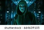 masked hacker in a hoodie...