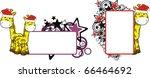 giraffe xmas cartoon in vector...   Shutterstock .eps vector #66464692