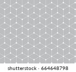 sacred geometry grid graphic... | Shutterstock .eps vector #664648798