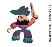 bearded pirate with hook and