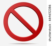 no sign. censor  red... | Shutterstock .eps vector #664652386