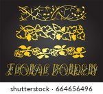 floral borders and design... | Shutterstock .eps vector #664656496