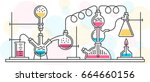 a chemical reaction consisting... | Shutterstock .eps vector #664660156