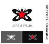 butterfly star beauty logo | Shutterstock .eps vector #664663186