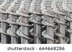 metal industry  a factory in... | Shutterstock . vector #664668286