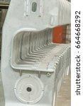 metal industry  a factory in... | Shutterstock . vector #664668292