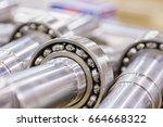 metal industry  a factory in... | Shutterstock . vector #664668322