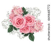 Flower arrangement with pink...