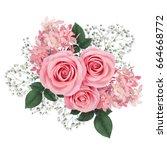 Flower arrangement with pink...