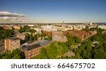 aerial photo of helsinki | Shutterstock . vector #664675702