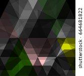 vector abstract  polygon... | Shutterstock .eps vector #664681822