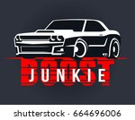 racing muscle car typography. t ... | Shutterstock .eps vector #664696006