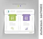 infographic template of two... | Shutterstock .eps vector #664704832