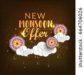 illustration sale banner sale... | Shutterstock .eps vector #664706026