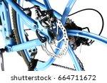 mechanical disc brake of ...   Shutterstock . vector #664711672