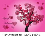 our love growing like a... | Shutterstock .eps vector #664714648