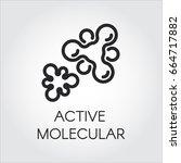 vector contour label of active... | Shutterstock .eps vector #664717882