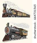 engraved vintage  hand drawn ... | Shutterstock .eps vector #664731565