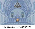 illustration of medieval castle ... | Shutterstock .eps vector #664735252