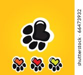 paw print with heart | Shutterstock .eps vector #66473932