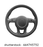 steering wheel driver of... | Shutterstock . vector #664745752