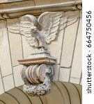 The Stucco Eagle Decorates The...