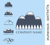 mountain vector silhouette... | Shutterstock .eps vector #664754776