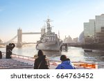 A Famous Warship In London As...