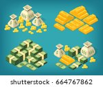 set of high quality isometric... | Shutterstock .eps vector #664767862