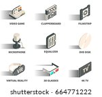 isometric 3d web icon set  ... | Shutterstock .eps vector #664771222