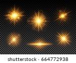 vector illustration of golden... | Shutterstock .eps vector #664772938