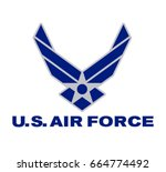 symbol of the us air force... | Shutterstock .eps vector #664774492
