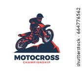motocross vector illustration