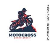 motocross vector illustration | Shutterstock .eps vector #664776562