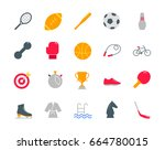 sport color icons set | Shutterstock .eps vector #664780015