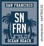 san francisco ocean beach... | Shutterstock .eps vector #664783132