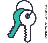 key | Shutterstock .eps vector #664806466