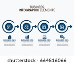 business infographic | Shutterstock .eps vector #664816066