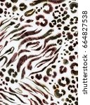 Painted Animal Skin Leopard...