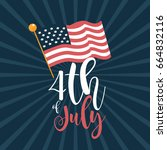 4th of july united states...   Shutterstock .eps vector #664832116