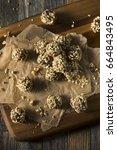 raw homemade healthy gluten... | Shutterstock . vector #664843495