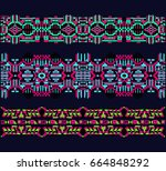 ethnic pattern. print on... | Shutterstock .eps vector #664848292