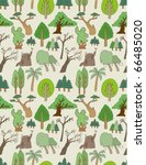seamless tree pattern