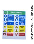 Small photo of Cut out of a Site Safety sign