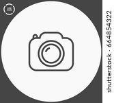 camera photo line vector icon | Shutterstock .eps vector #664854322