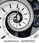 futuristic modern strass... | Shutterstock . vector #664855402