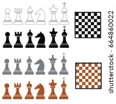 chess board background design ... | Shutterstock .eps vector #664860022