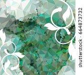 abstract elegant mosaic... | Shutterstock . vector #664873732