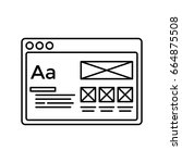 wireframe in window lined icon. ...